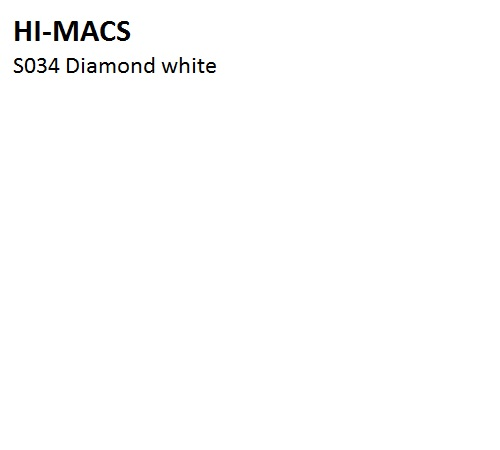 LG HI-MACS SOLID - S034_Diamond_White