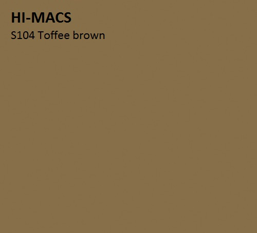 LG HI-MACS SOLID - S104_Toffee_brown_hf