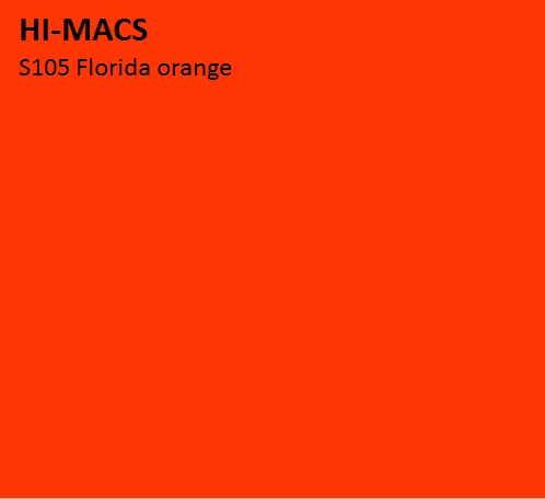 LG HI-MACS SOLID - S105_Florida_Orange_hf